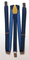 Bretelle Blu crocette e Pelle Gialla