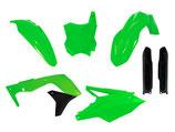 Plastikkit KXF 250 17- neon grün/schwarz 6 tlg.