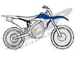 Plastikkit YZF 450 10-13 blau/weiss OEM 2013