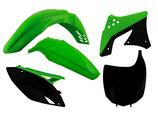 Plastikkit KXF 250 09- schwarz/grün 5-teilig