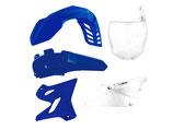 Plastikkit YZ 125-250 15- Original Blau/Weiß 5tlg.