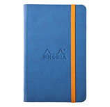 A6 Rhodiarama Notebook Lined Sapphir Blau