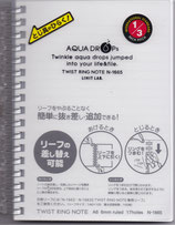 Lihit Lab Aqua Drops 70 Sheet Twist Ring Notebook A6 Clear