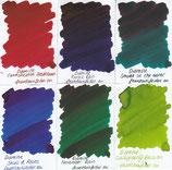 Diamine German Market Exlusvie Ink samples