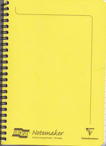 Notemaker A5 Clairefontaine Yellow Liniert