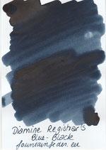 Diamine Registrar`s ink Blue-Black Sample
