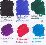 Pelikan 4001 Brilliant Ink Samples