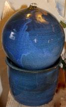 Zimmer Springbrunnen- WMSB blau -   ∅ ca. 23 cm.H. 35 cm Mit Pumpe