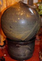 Zimmer Springbrunnen - WMSB Anthrazit -   ∅ ca. 27 cm.H. 37 cm Mit Pumpe
