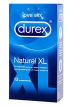 DUREX NATURAL XL Caja de 12 unidades (Ref. 40013)