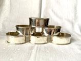 Set van 6 Hollands zilveren servetringen, L.de Jong, Schoonhoven ca.1985.