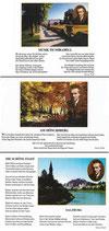 3 Ansichtskarten  mit Gedichten von Georg Trakl