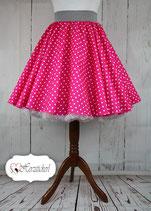 Tellerrock - Tupf Pink