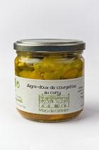 Zucchini süss-sauer mit Curry