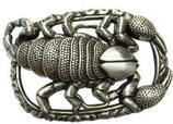 Gürtelschnalle Skorpion 4,0 cm - Silber