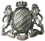 Gürtelschnalle Löwen mit Krone XXL 4,0 cm