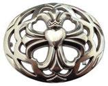 Gürtelschnalle Four Hearts for a Kingdom 4,0 cm - Silber