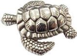 Gürtelschnalle Delux Turtle 4,0 cm - Silber