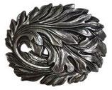 Gürtelschnalle Blätter 4,0 cm - Silber