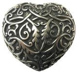 Gürtelschnalle Herz 4,0 cm - Silber