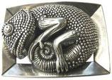 Gürtelschnalle Camaleonte 4,0 cm - Silber