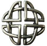 Gürtelschnalle Crossings 4,0 cm - Silber