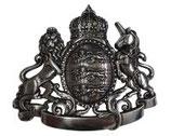 Gürtelschnalle Löwe und Einhorn 4,0 cm - Silber