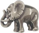 Gürtelschnalle Elefant 4,0 cm - Silber