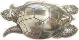 Gürtelschnalle Wasser-Schildkröte 4,0 cm - Silber