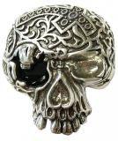 Gürtelschnalle Black Death 4,0 cm - Silber