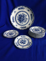 Blue Rose Fine China - gebakstel
