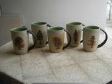Latte Macchiato Becher mit Baummotiv