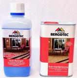 Doppelpack - Bergotec Teak-Reiniger/Entgrauer plus Bergotec Teak-Imprägnierung