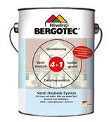 Bergotec Venti Holzlack-System 4 in 1 - innen und außen - weiß