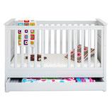 ADRIA Babybettchen ♥ Kinderbettchen ♥ Kindercouch ♥ inkl. Bettschublade & Matratze
