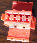 3801-00222 Connector C / red  ref: HS53-6600-083, AMP 927367-1