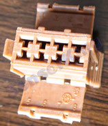 3801-00223 Connector D/ brown  ref:  HS53-6600-084, AMP 927368-1