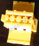 3801-00221 Connector B/ yellow,  ref: HS53-6600-082, AMP 927366-1
