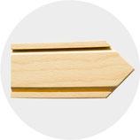 Pfeile aus Holz natur