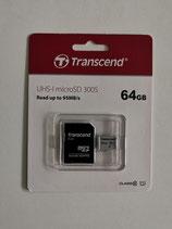 Transcend microSDXC 64GB Premium 300S Class 10 + SD-Adapter