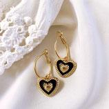 Black Heart Charms