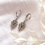 Zirconia Leaf Charms Silver