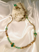 Smaragd-Diamantkette