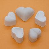 5 Herzen aus Gips