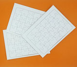 3 Blanko-Postkartenpuzzle