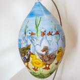 Bemalenes Glasei:  Enten und Hausschnecke