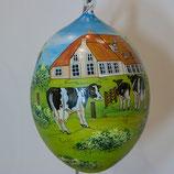 Bemalenes Glasei:  Bauernhof - Landschaft