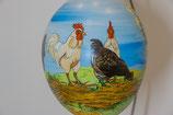 Bemalenes Glasei:  Hühnernest