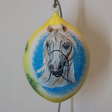 Bemalenes Glasei: Pferdekopf