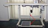 Grosse Pedal + Stange für Industrienähmaschinen Tisch